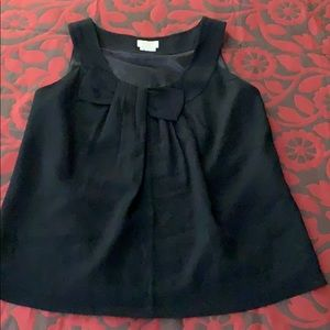 Kate spade black shirt. Bow on front.